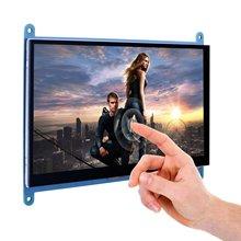 BLEL écran tactile capacitif 7 pouces écran TFT LCD Module HDMI 800x480 pour framboise Pi 3 2 modèle B et RPi 1 B + A BB Bla