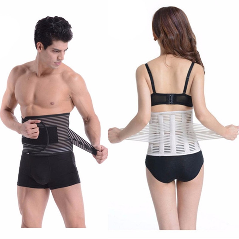 Men/women Waist Slimming Corset Back Lumbar Brace Support Belts Orthopedic Posture Correction Abdominal Girdles Slim Body Shaper