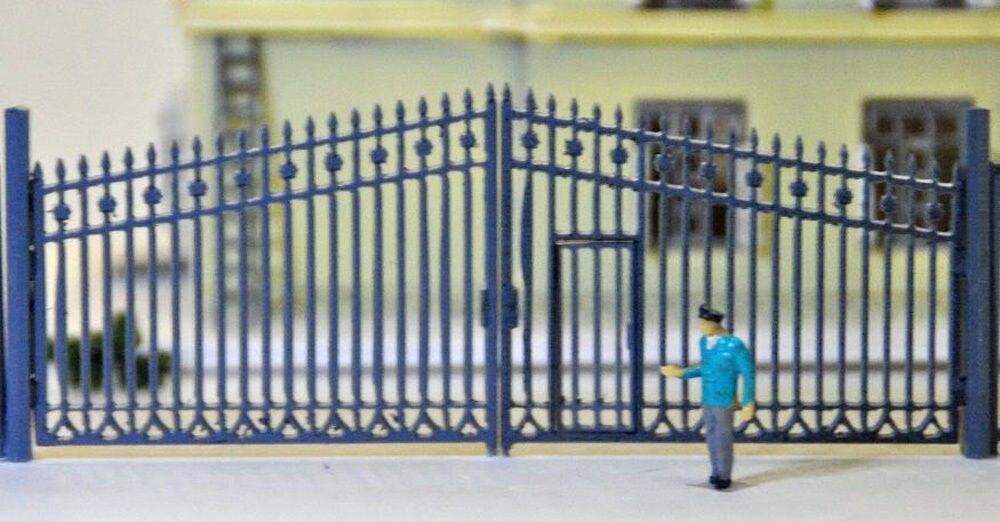 11 pcs Model Train Railway Cerca Parede com Porta para a Construção de Escala 1150 N GY46150 Novo modelo de trem escala ho modelagem de transporte ferroviário
