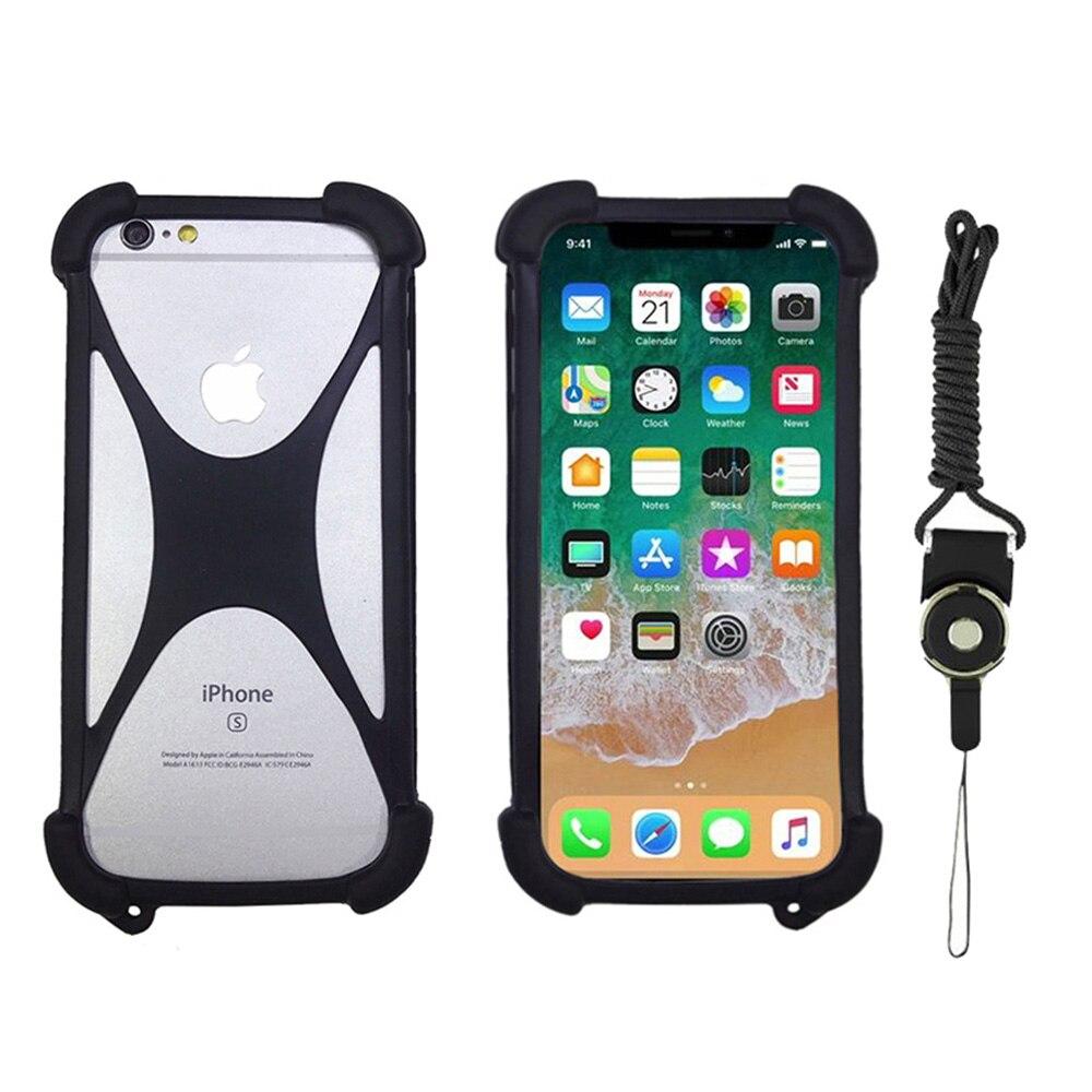 Универсальный чехол для NUU G3 M3 X4 X5 смартфон силиконовый чехол бампер резина с ремешком чехол для телефона