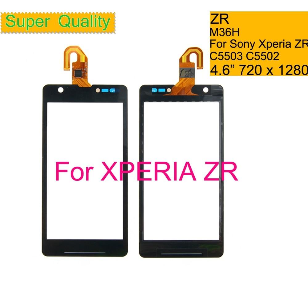 "Touchscreen 4,6 ""Für Sony Xperia ZR M36H C5503 C5502 Touchscreen Digitizer Front Glas Touch Panel Sensor Objektiv KEINE LCD Display"