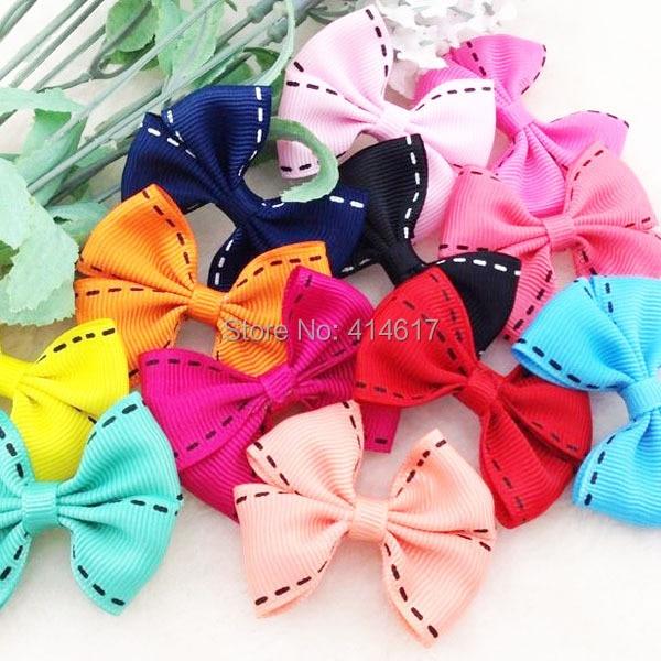 10 piezas U recoger cinta grande Grosgrain lazos flor apliques boda artesanía A168