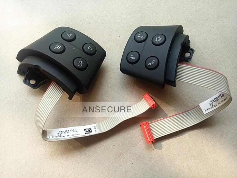 Par de interruptores de Control de volante izquierdo y derecho para Volkswagen Golf Jetta MK5 passat b6 EOS tiguan touran