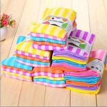 LINSBAYWU-serviettes de cuisine   Lot de 5 pièces, haute et efficace, Anti-graisse, couleur de la vaisselle, Fiber de lavage, serviettes de nettoyage magique dessuyer