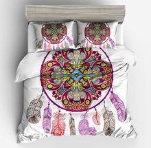 Neue luxus-mode Böhmen Stil Textil Bettbezug kissen rot blau Weiß Zurück größe twin voll königin könig gute qualität bettwäsche
