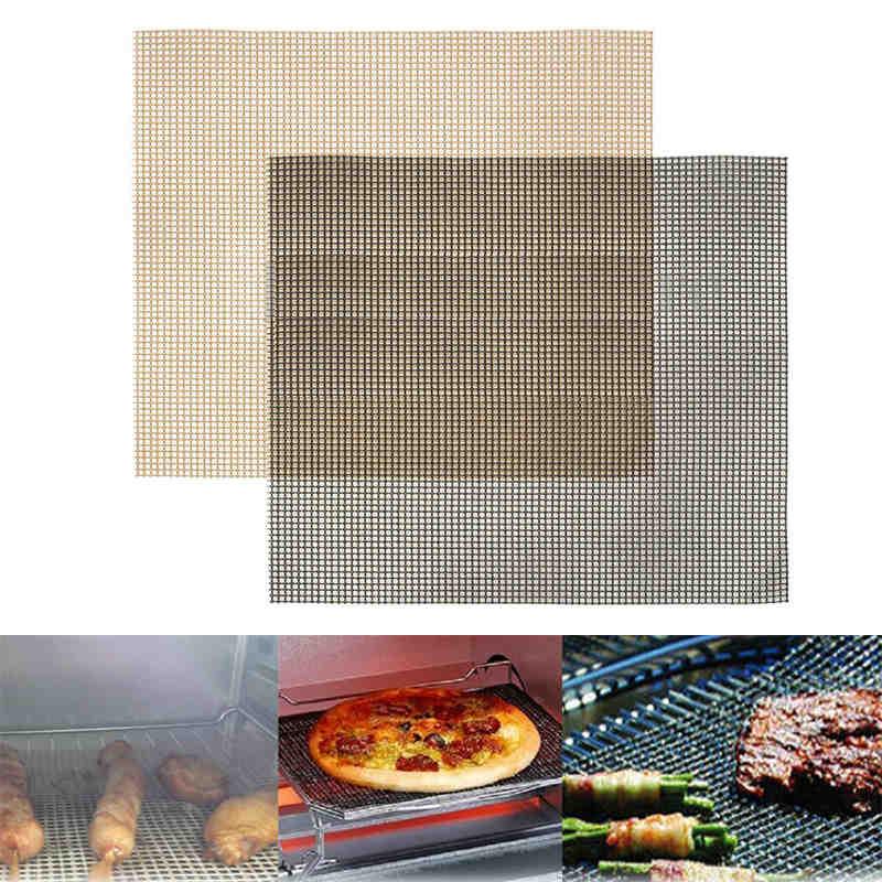 1 шт. антипригарный гриль для выпечки сетчатый коврик многоразовый поднос для листов хрустящие чипсы принадлежности для барбекю для пиццы 36...