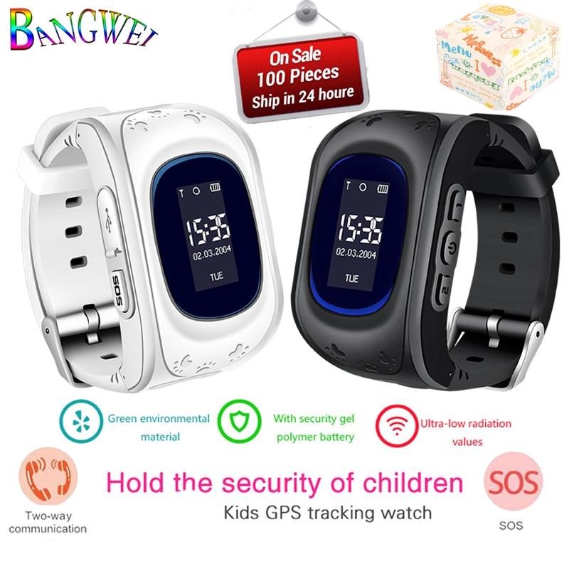 Bangwei venda quente crianças relógio criança bebê relógio inteligente sos chamada localização busca rastreador anti-perdido monitor de relógio inteligente + caixa