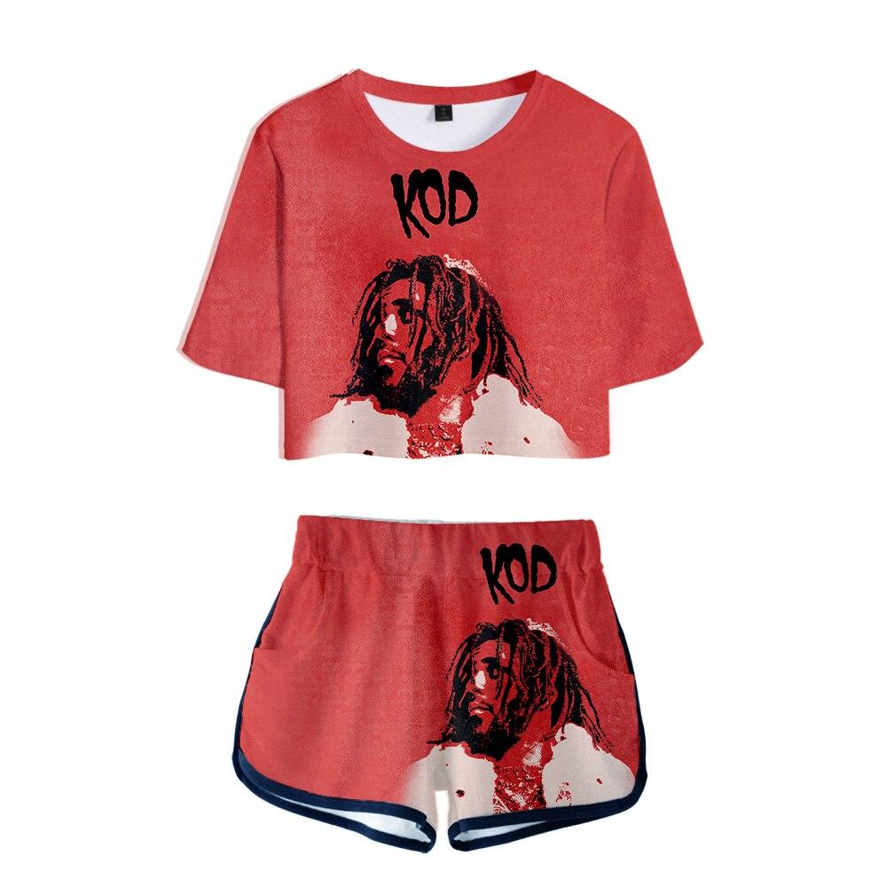 Conjunto de 2 piezas J. Cloe Hip Hop para mujer, Conjunto de camiseta de verano para mujer, conjunto corto de dos piezas para mujer, conjunto de ropa Sexy para mujer