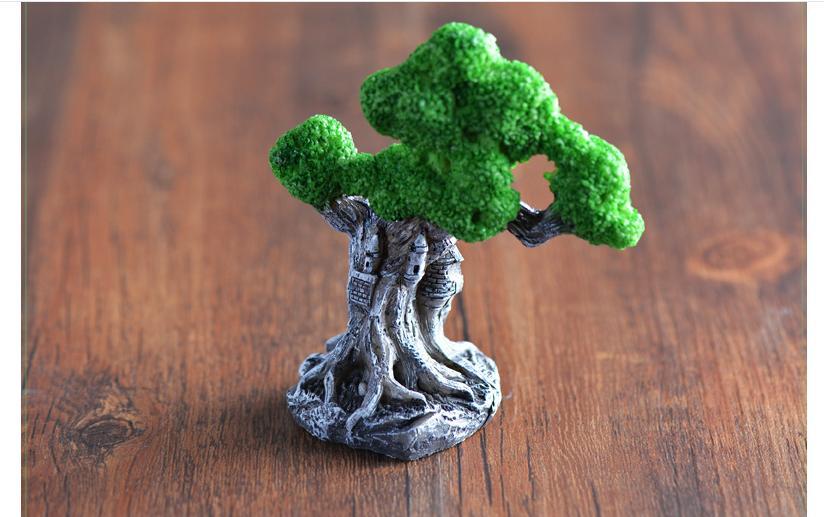 Micro landscape Castle Tree Micro landscape Garden Decorative Resin Handicraft Ornaments Decorations pine tree model