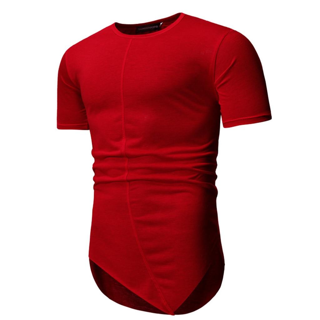 Camiseta para hombre Kanye West, camiseta de barrido redondo extendido, dobladillo curvo, Tops de línea larga, Hip Hop Urban Blank, camiseta Justin Bieber 5,14