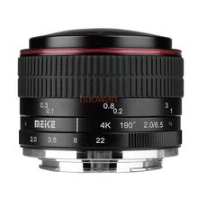 6.5 MM F2.0 f/2.0 Fisheye Lentille de Mise Au Point Manuelle pour micro M43 LUMIX GX8 G7 EP5 EPL5 LOMD em1 EM10 G6 GH2/3 GF5/6/7 caméra sans miroir