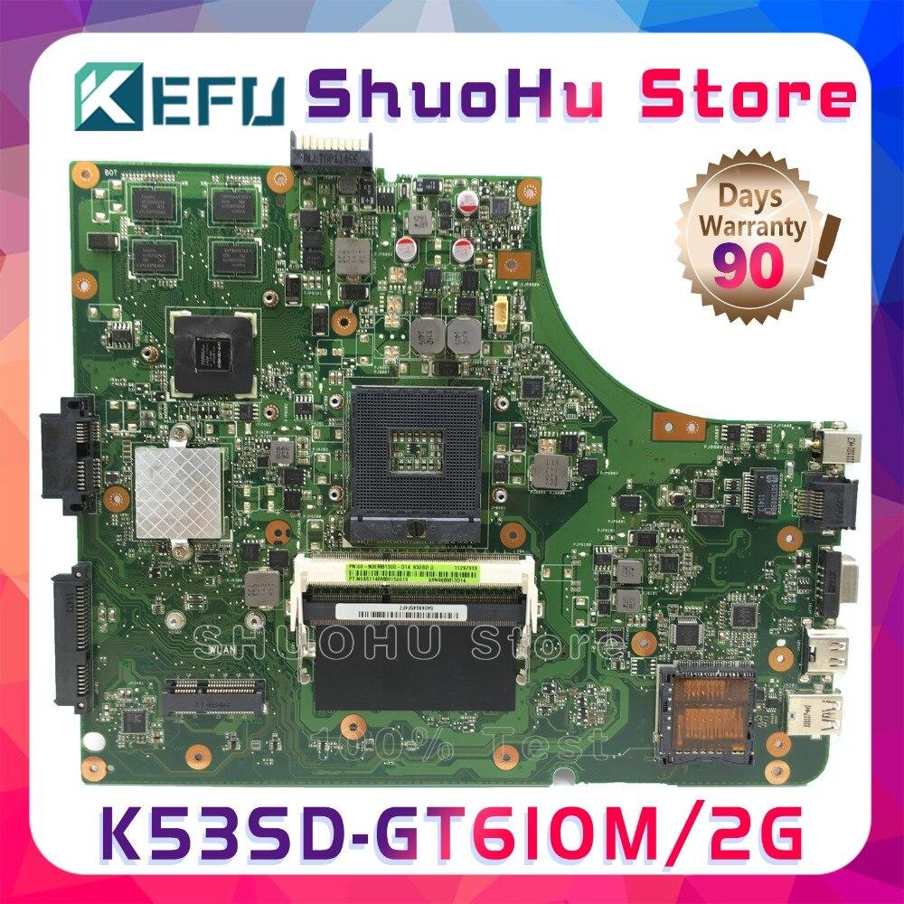 placa mae para computador kefu a53s asus k53sd k53s rev 51 gt610 100 gb original testada