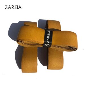 1pc Free shipping ZARSIA Genuine Pro Leather Grips Tennis replacement grips 1.5mm Tennis Racket Real Leather Grip1350MM