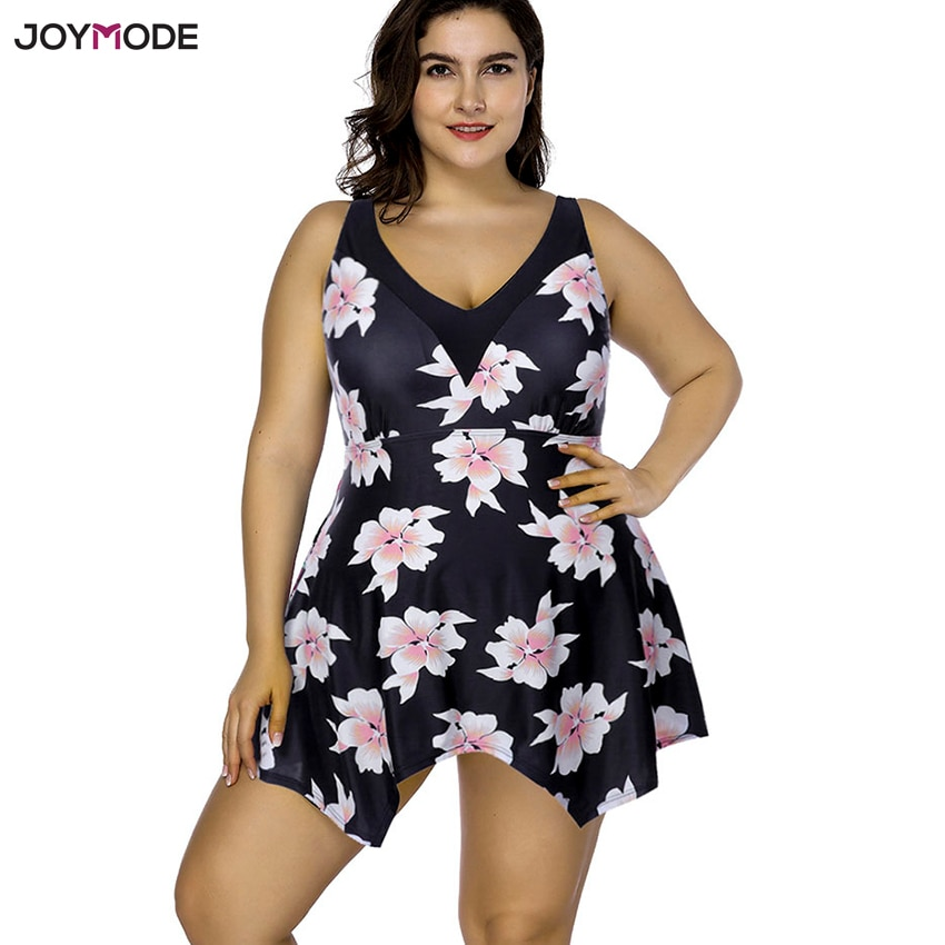 JOYMODE Одна деталь Плавание платье размера плюс костюм Для женщин Бикини для полных