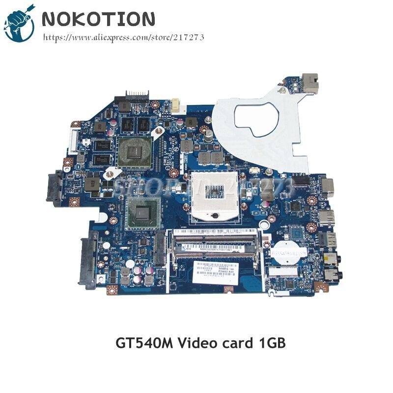 NOKOTION Laptop płyta główna do Acer aspire 5750 5750G DDR3 HM65 GT540M 1 GB MBRCG02006 MB. RCG02.006 P5WE0 LA-6901P