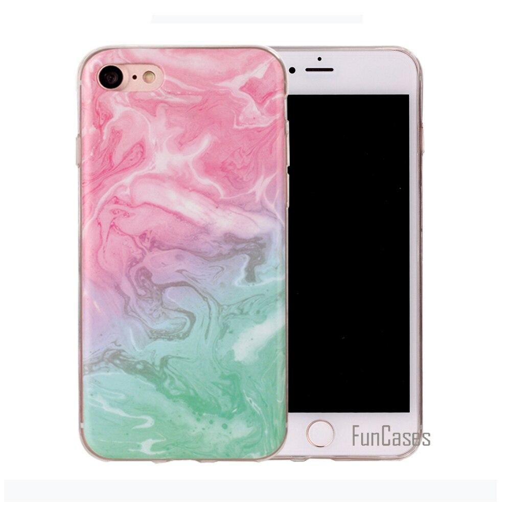 Funda de mármol para iPhone 6 funda de silicona de patrón colorido...