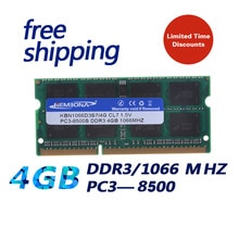 KEMBONA Brand New Sealed DDR3 1066/ PC3 8500 4GB Laptop RAM Memory compatible with all motherboard /
