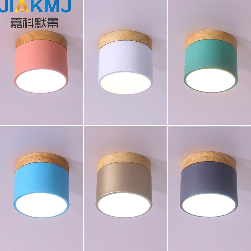 LED de techo nórdico, lámpara, pasillo, iluminación del hogar, lámpara de techo de moda para el hogar, 6 w, Envío Gratis