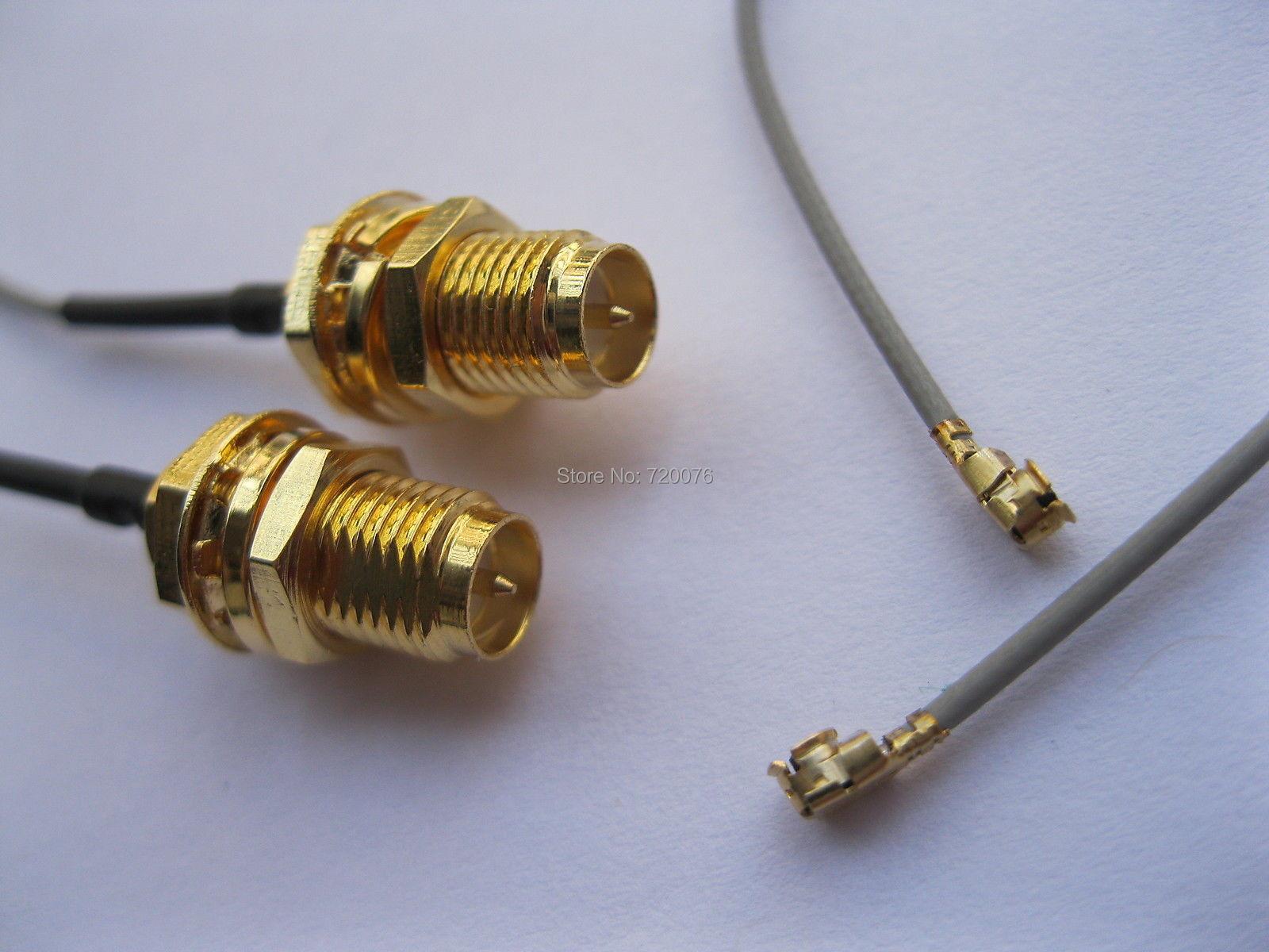 200 قطع RP-SMA ذكر دبوس موصل إلى ipx u. fl 1.13 هوائي wifi كابل 120 ملليمتر