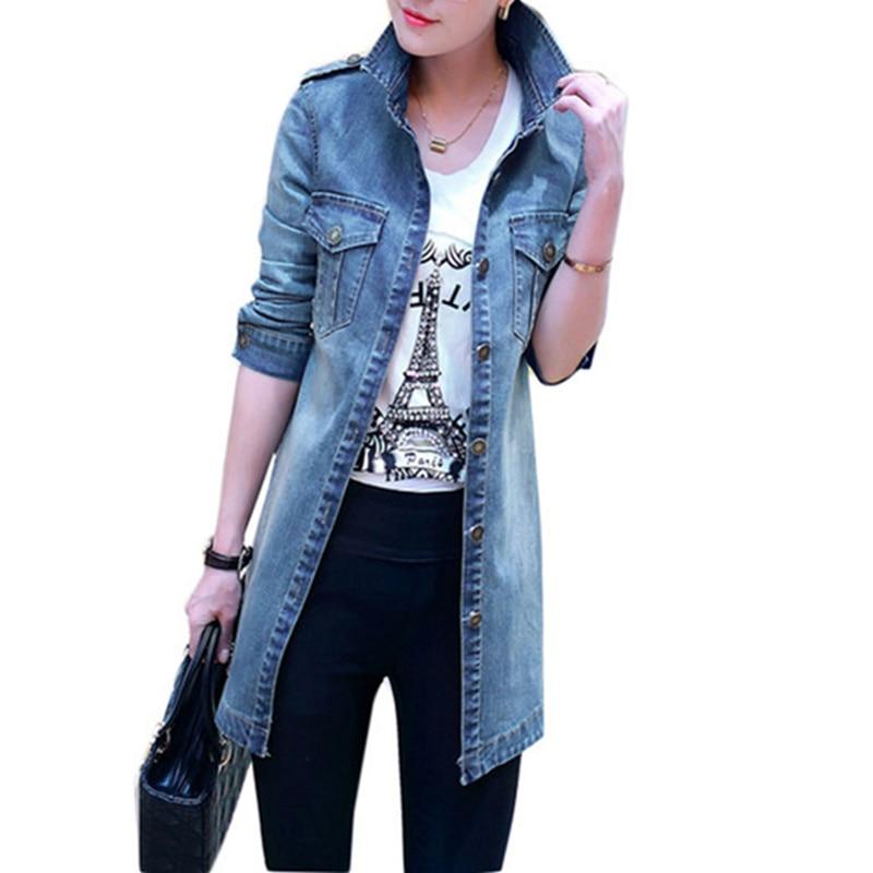 2019 New Women Denim Jacket Casual Self -Cultivation Denim Jacket Long -Sleeved Women 'S Fashion Large Size Women's Coat