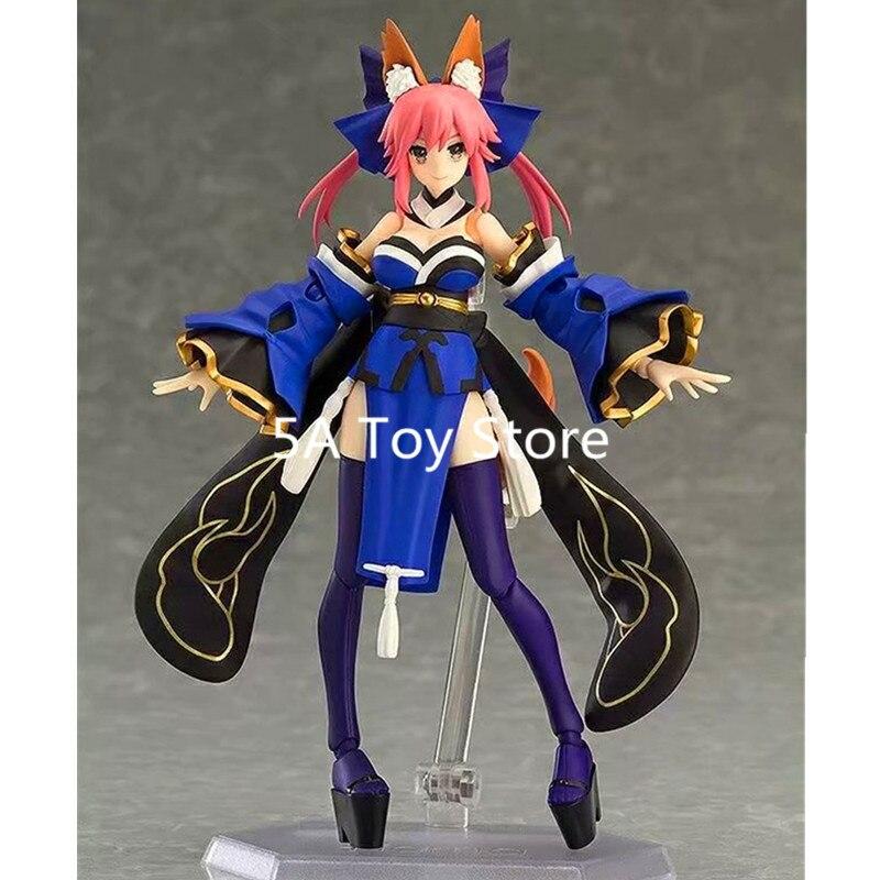 Anime figura el destino de la Gran Orden Extra Caster Tamamo No Mae Figma 304 PVC MODELO DE figura de acción de juguete 14cm