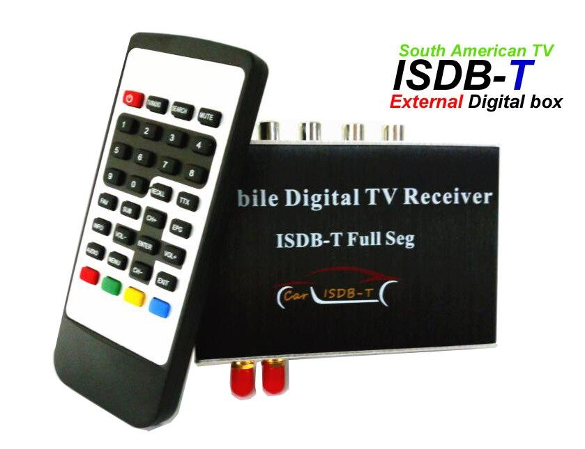 Hiriot carro externo digital ISDB-T caixa de tv completa seg sintonizador/antena para o mercado sul-americano carro dvd android player hd 1080 p