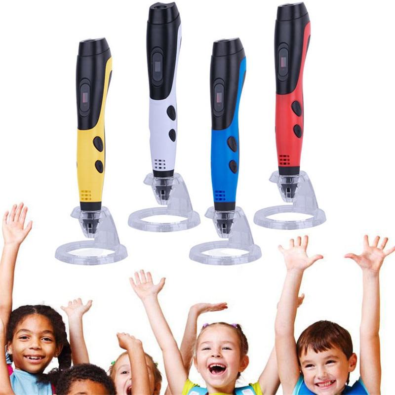 Centechia 3d caneta de impressão abs/pla filamentos 3d inteligente caneta diy magia 3d desenho caneta para crianças drawilng ferramentas caneta acessórios