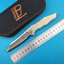LiBing Origina couteau pliant m390 lame titane poignée en plein air Camping chasse couteau à fruits EDC outils Collection cadeaux