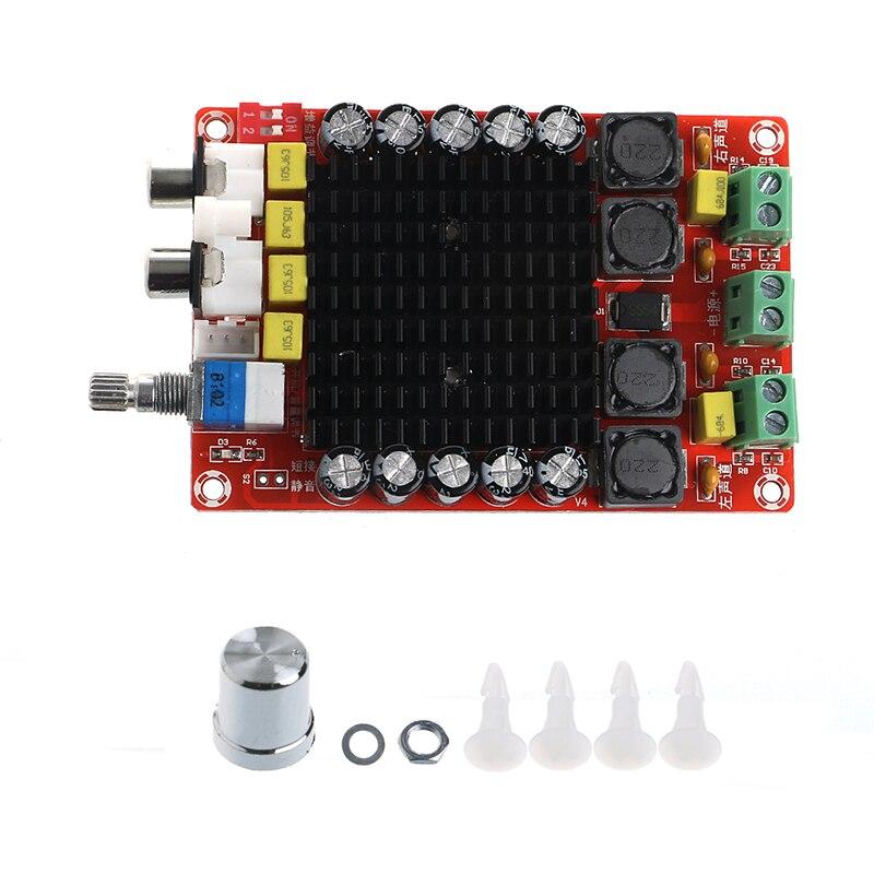 DC 14-34 V TDA7498 2x100 W Clase D amplificador de potencia de Audio de doble Digital amplificador de Audio para cine en casa altavoz activo
