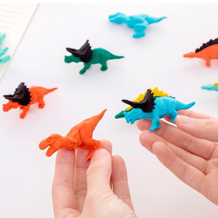 Goma para borrar de estudiante con forma de dinosaurio de dibujos creativos, 1 Uds., papelería de goma, venta al por mayor, Premio infantil