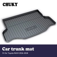 chuky for toyota rav4 2016 2017 2018 car cargo rear trunk mat car styling boot liner tray waterproof anti slip mat accessories