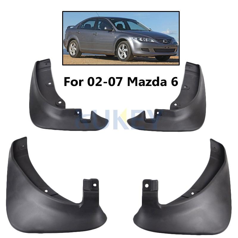 4Pcs OE Styled Mud Flaps For Mazda 6 Sedan 2002-2008 Mudflaps Splash Guards Mud Flap Mudguards Fender 2003 2004 2005 2006 2007