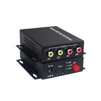 2 אודיו מעל סיב אופטי FC Extender (דו) משדר ומקלט עבור מערכת שידור אינטרקום אודיו (Tx/Rx) ערכת