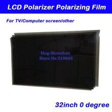 Новинка 32 дюйма 32 дюйма 0 градусов Глянцевая 709 мм * 405 мм ЖК-поляризатор поляризационная пленка для ЖК-дисплея LED IPS экран для телевизора