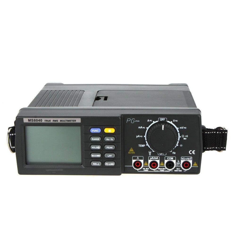 MASTECH 22000 contagem MS8040 bancada AC TRMS MULTÍMETRO Max/Min de Análise de dados do PC