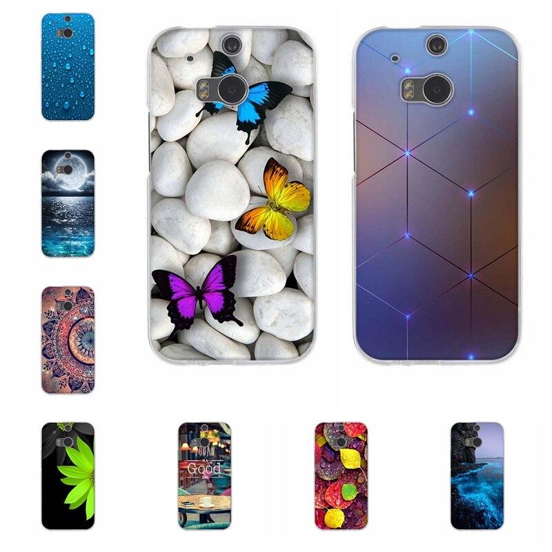 Чехол для HTC One M8 M8s, Ультратонкий Мягкий Силиконовый ТПУ чехол для HTC One M8, защитный чехол с рисунком ангела для HTC One M8s, футляр