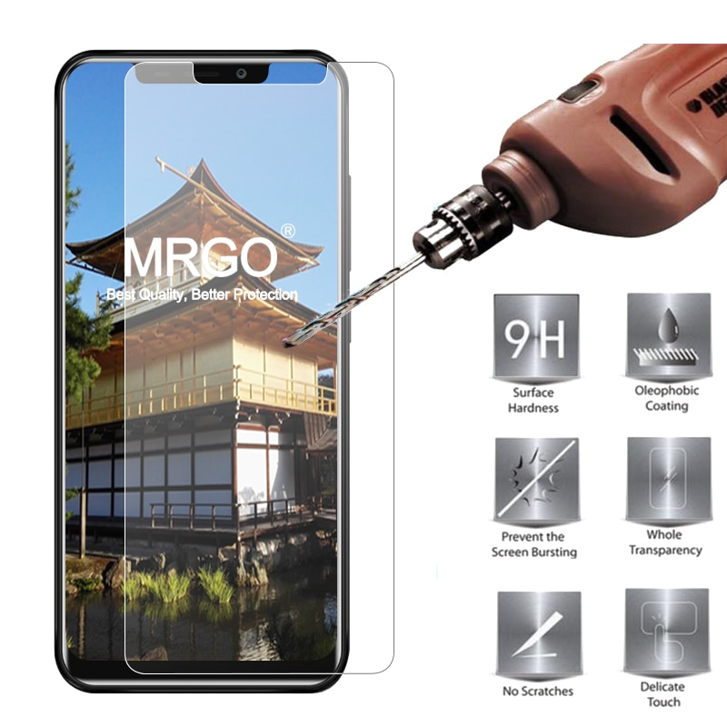 Vidrio Templado MRGO para Oukitel C12 Pro, 9H para teléfono 2.5D Protector de pantalla, vidrio Protector para Oukitel C12