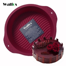 WALFOS 20*6CM Big Round food grade non stick Silicone 3D cake Mold Cake pan  Baking Tools Bakeware Maker Mold Tray