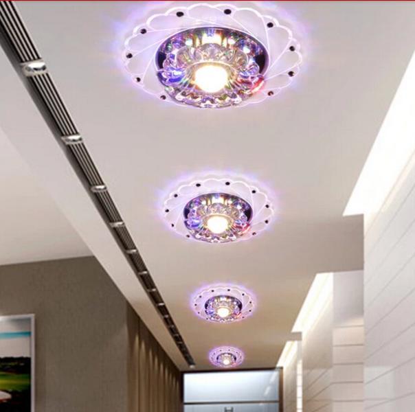 ¡Colorpai caliente! Luz de techo Led diámetro 3W AC200 240V Blanco/blanco cálido interior dormitorio cocina lámparas