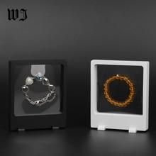 11*13cm Rectangular Frame Transparent Elastic Membrane Bangle Jewelry Display & Packaging Box For Watch Pendant Bracelet Pearl