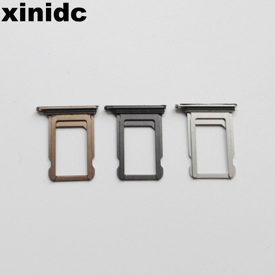 Xinid 50 Uds lector de tarjetas SIM Dual/Single conector bandeja soporte Módulo de ranura para iPhone XS con piezas de repuesto de goma