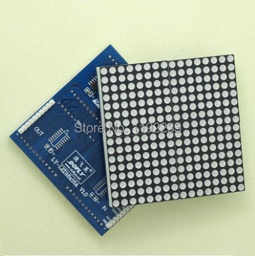 5 unids/lote 16X16 LED matriz de puntos caracteres chinos pantalla LED módulo MCU Placa de desarrollo