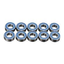 Roulements à billes en caoutchouc MR115RS   Joints en acier de haute qualité, roulements à billes de moyeu de roues 5*11*4mm bleus, 10 pièces/lot