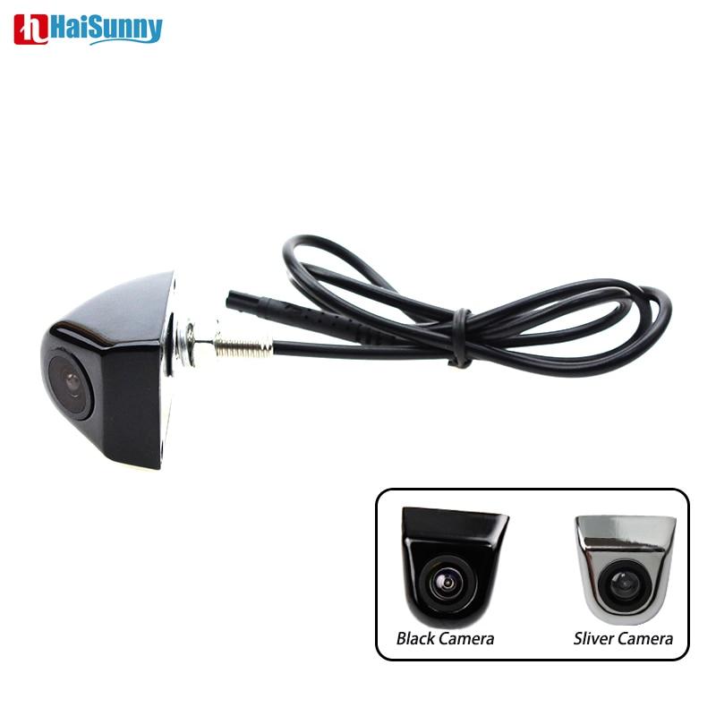 HaiSunny CCD HD Visión Nocturna impermeable cámara de visión trasera de coche 360 grados de rotación Universal cámara de marcha atrás para estacionamiento