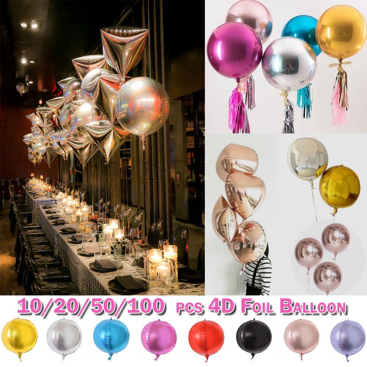 Globos de helio, decoración del hogar, Bola de cumpleaños, fiesta de bodas, 50 Uds.
