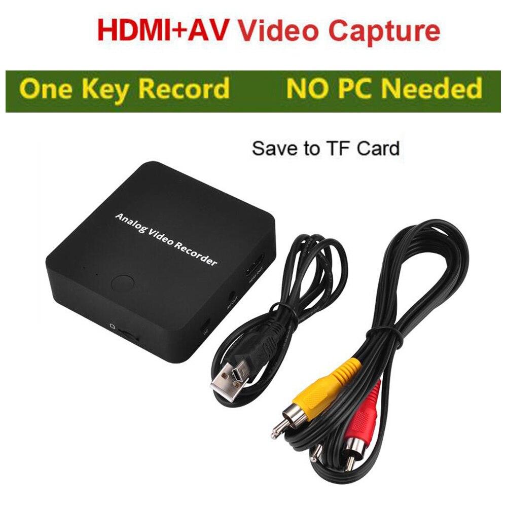 AV Erfassen Analog zu Digital Video Recorder Analog Video Recorder Audio Video eingang AV HDMI Ausgang zu Micro SD Karte KEINE Notwendigkeit PC