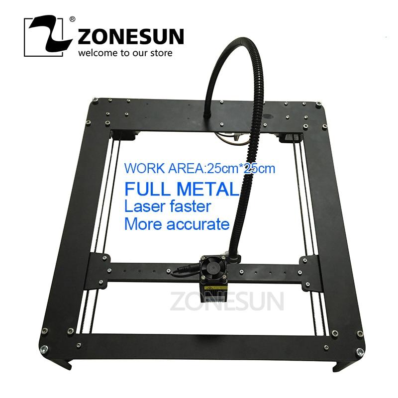 ZONESUN FULL METAL 1000 mw Mini DIY Impressora A Laser Máquina de Marcação A Laser Máquina de Gravação A Laser Do Gravador Fasrer Mais Preciso