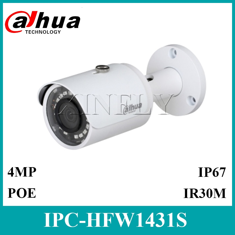 Dahua Original IPC-HFW1431S 4MP IP67 Mini-Cámara de amplio rango dinámico (WDR) IR30m reemplazar IPC-HFW1420S IPC-HFW1320S-W IPC-HFW1320S con LOGO