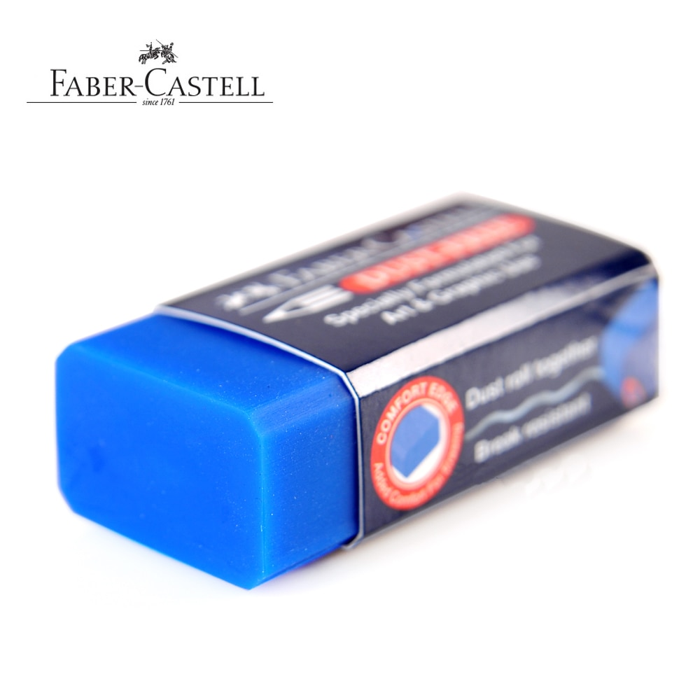 Faber-Castell Blue Super Clean eraser Art Painting Eraser for Erasable Water-Soluble Color pencils 10pcs/lot