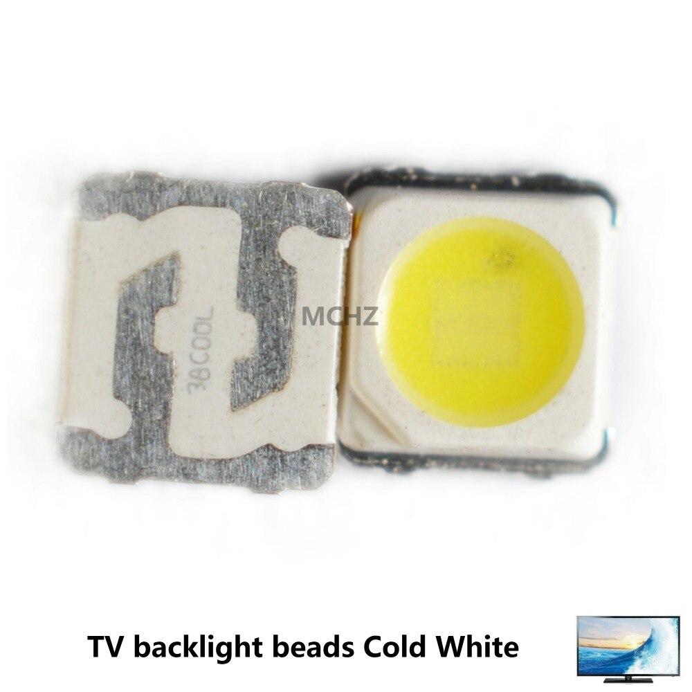 100PCS Samsung 3228 2828 LED SMD TV Backlight 3V 2W 700ma LED Beads Cool White For Samsung SPBWH1320S1EVC1B1B Free Shipping